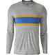 Patagonia M's Capilene Daily LS Graphic T-Shirt Rugby Stripe: Feather Grey